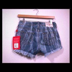 True Religion Keira mid rise jean shorts 25